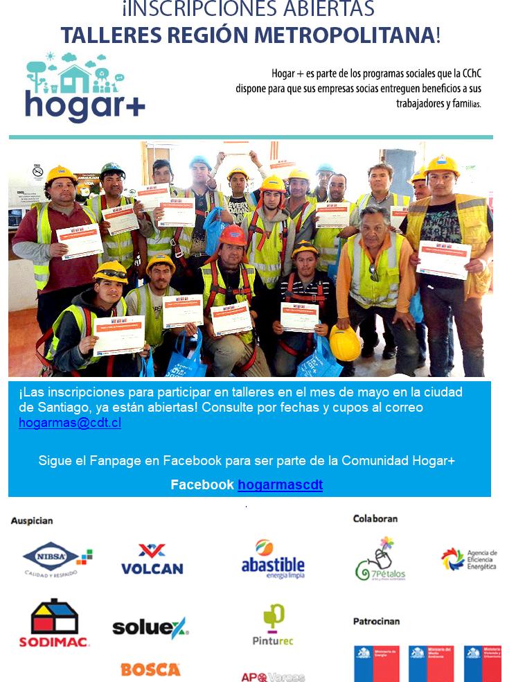 Inscripciones Talleres CDT Región Metropolitana Pinturec