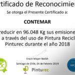 Felicitamos a Contemar por elegir pintura reciclada Pinturec