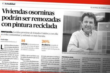 Diario Austral Osorno entrevista a Pinturec pintura reciclada
