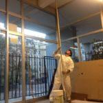 Torres San Borja pinta con pintura reciclada