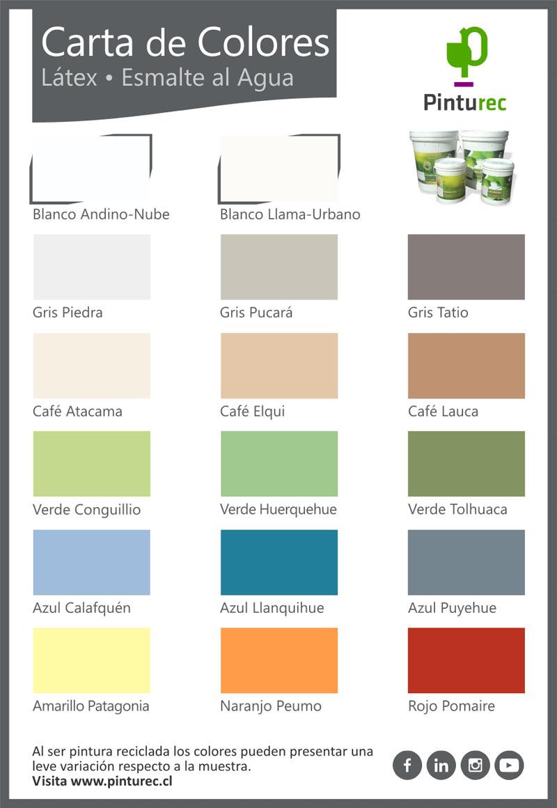 carta de colores latex y esmalte