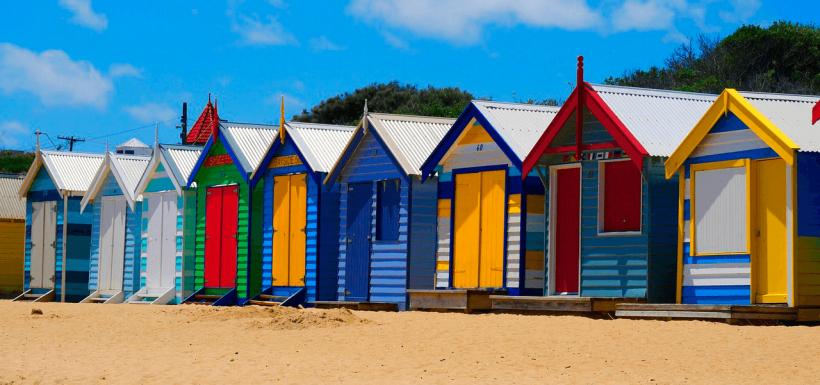 Pintura reciclada en casas de playa