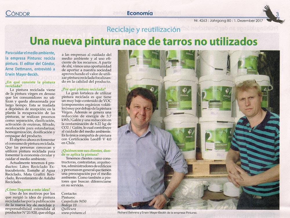 Diario Cóndor entrevista a Pinturec. Richard Behrens / Erwin Mayer-Beckh