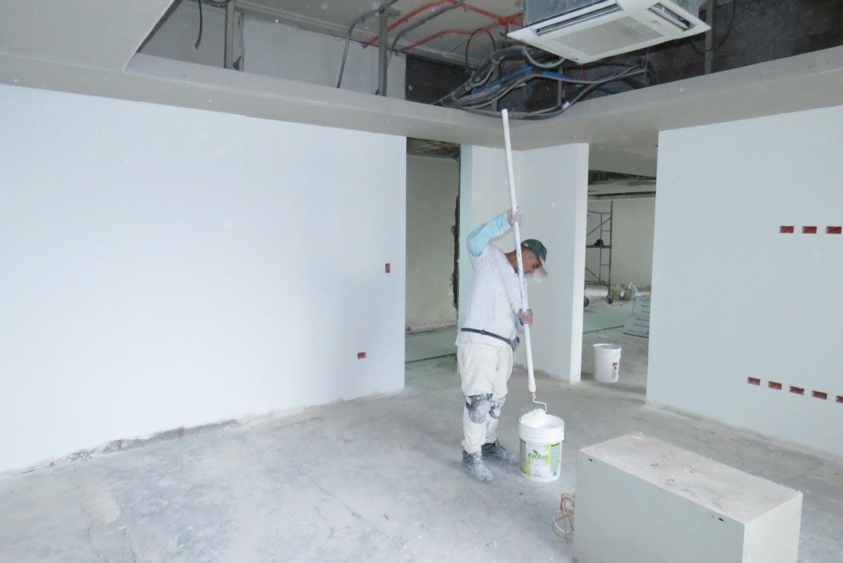 Oficinas del Ministerio de Hacienda pintadas con Pintura Reciclada