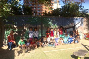 niños Colegio Alemán de Santiago usan pintura reciclada Pinturec